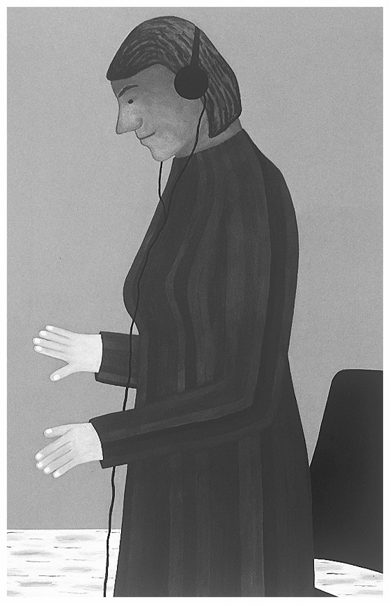 Headphones, 171x110cm, 1998 _ Anuli Croon
