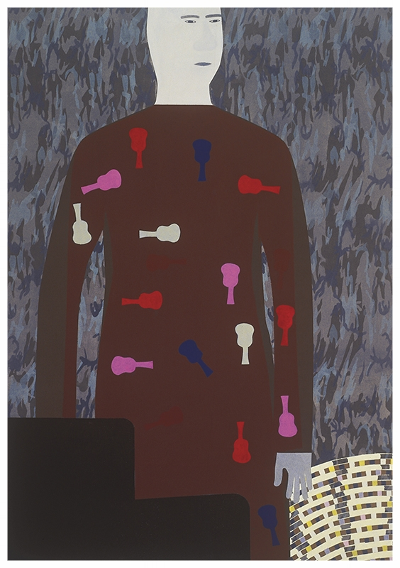 Camouflage behang, 220x156cm, 2001_ Anuli Croon