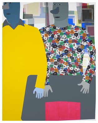 Yellow Sweater II, 210x170cm, 2002  Anuli Croon
