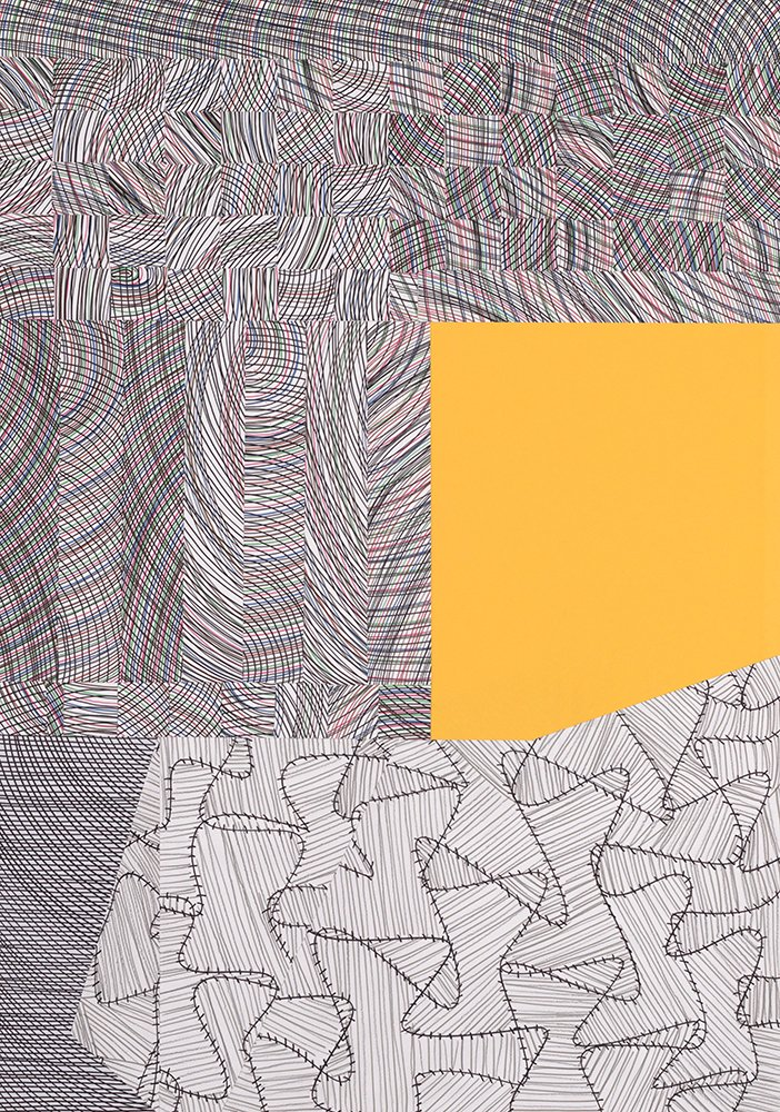 Collages: cutted patterns, coloured paper Anuli Croon 2005