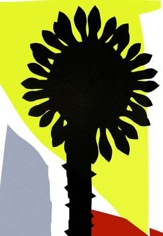 Flowers of Romance | Plant in Landschap, 100 x 70 cm, 2007 Edition: 5 / 8 – Silcscreen ANULI CROON