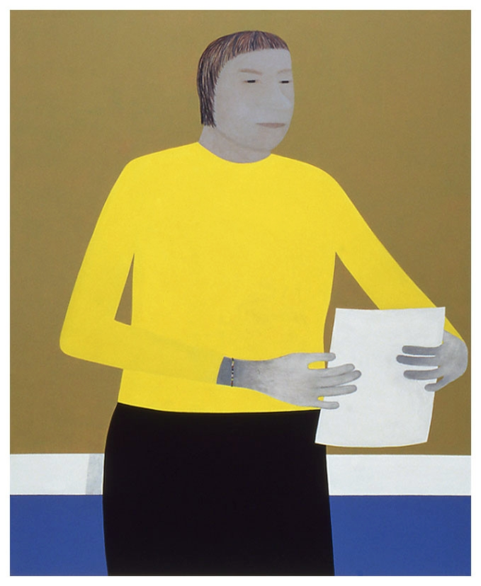 Yellow Sweater, 171x141cm, 1999 _ Anuli Croon  | Private collection