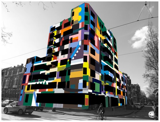 Proposal for Dazzle Building / Rotterdam, Anuli Croon